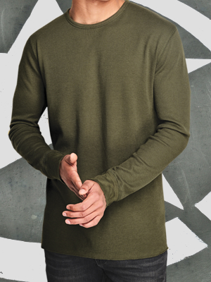 DT118 - District Threads Long Sleeve Thermal T-Shirt