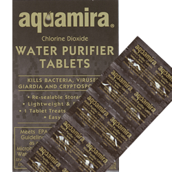 Aquamira Water Purifier Tablets Military 10 Pack