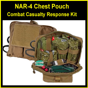 NAR-4 Chest Pouch Tactical Combat Casualty Response Kit