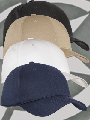 Port Authority® Fine Twill Mid-Profile Cap