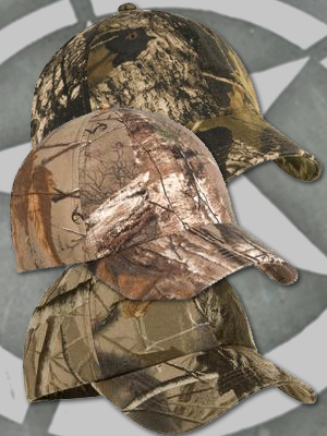 Real-Tree® or Mossy Oak® Caps Low Profile