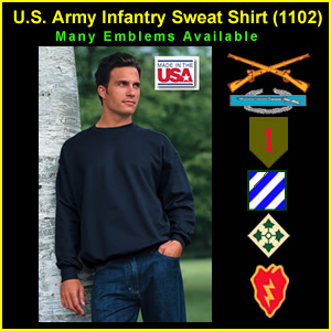 US Army Infantry Sweat Shirt (1102)