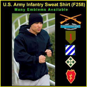 US Army Infantry Sweat Shirt (F258)