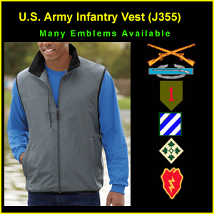 US Army Infantry Fleece Lined Vest (J355)