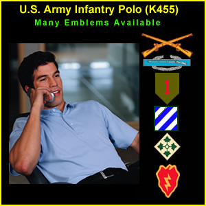 US Army Infantry Polo Shirt (K455)
