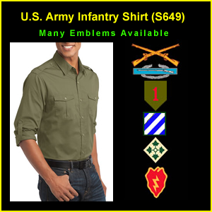 US Army Infantry Long Sleeve T-Shirt (S649)
