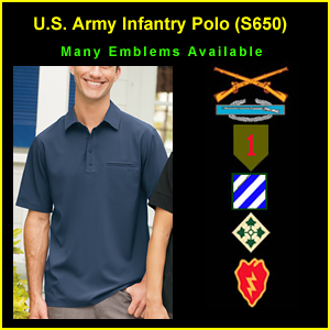 US Army Infantry Polo Shirt (S650)