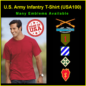 US Army Infantry USA Made T-Shirt (USA100)