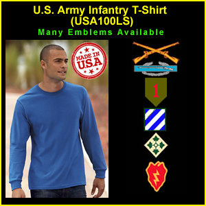 US Army Infantry USA Made Longsleeve T-Shirt (USA100LS)