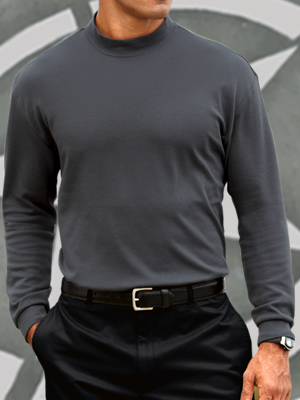 Port Authority Mock Turtleneck Longsleeve