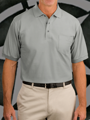 Port Authority Silk Touch Sport Shirt with Pocket