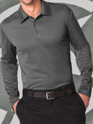 Port Authority® Silk Touch™ Performance Long Sleeve Polo