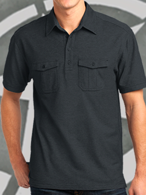 Port Authority® Oxford Pique Double Pocket Polo