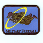 Military Free Fall HALO Patch - Item Number: P-00300