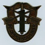 Special Forces Crest Patch with 1st Group Number (Subdued) - Item Number: P-01100S