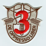 Special Forces Crest Patch with 3rd Group Number (Desert w/ Red) - Item Number: P-01900D