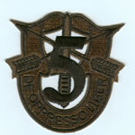 Special Forces Crest Patch with 5th Group Number (Subdued) - Item Number: P-02100S