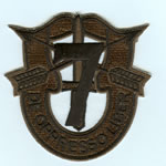 Special Forces Crest Patch with 7th Group Number (Subdued) - Item Number: P-02600S