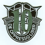 Special Forces Crest Patch with 10th Group Number - Item Number: P-03000