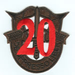 Special Forces Crest Patch with 20th Group Number (Subdued w/ Red) - Item Number: P-04800S