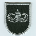 5th SF Group Beret Flash with Senior Airborne Wings - Item Number: P-09700