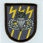 12th SF Group Beret Flash with Master Airborne Wings - Item Number: P-09900