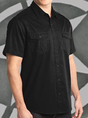 Port Authority® Stain Resistant Short Sleeve Twill Shirt