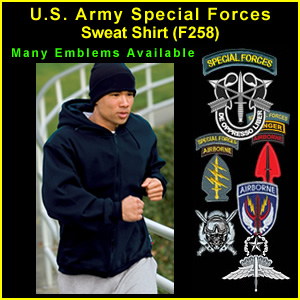 US Army Special Forces & Operations Sweat Shirt (F258) - sff258