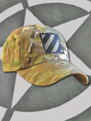SpartanCap -3rd Infantry Div (#027) -Tactical Team Cap Multicam - TCT-008-Emblem027