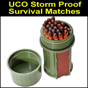 UCO Stormproof Matches Kit Green