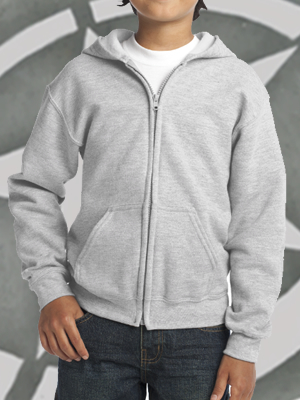 18600B - Gildan® Youth Heavy Blend™ Full-Zip Hooded Sweatshirt