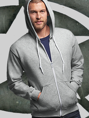 71600 - Anvil® Full-Zip Hooded Sweatshirt