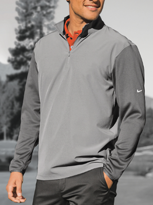 746102 - Nike Golf Dri-FIT Fabric Mix 1/2-Zip Cover-Up