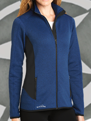 EB239 - Eddie Bauer® Ladies Full-Zip Heather Stretch Fleece Jacket