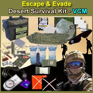EEDMSK-VCM - Escape & Evade Desert Survival Kit - VCM
