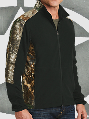 F230C - Port Authority® Camouflage Microfleece Full-Zip Jacket