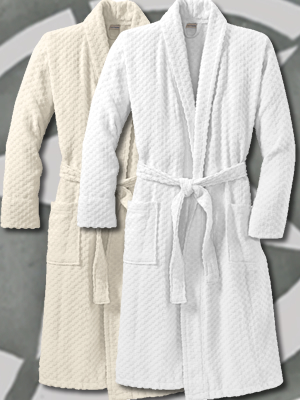 R103 - Port Authority® Checkered Terry Shawl Collar Robe