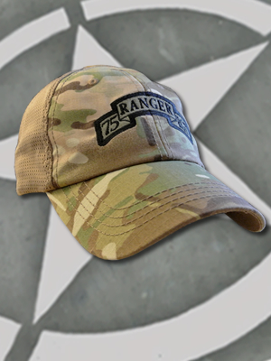 TCT-MESH-008-Emblem068 - SpartanCap 75th Ranger Regiment Scroll (#068) Mesh Tactical Team Cap Multicam