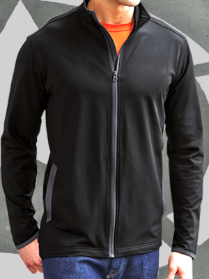 ST853 - Sport-Tek® Sport-Wick® Stretch Contrast Full-Zip Jacket