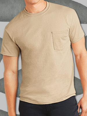 Gildan® Ultra Cotton® 100% Cotton T-Shirt with Pocket