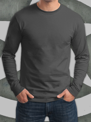 Hanes® Tagless® 100% Cotton Long Sleeve T-Shirt