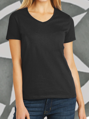Hanes® Ladies Tagless® 100% Cotton V-Neck T-Shirt