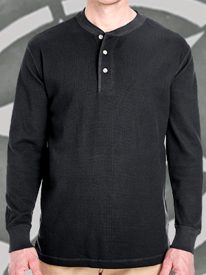 Ultraclub Adult Mini-Thermal Henley - 8456