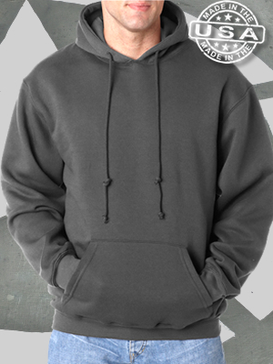 Bayside USA Made Hooded Sweatshirt - BA960