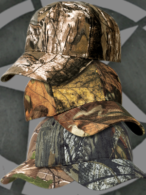 Real-Tree®, Mossy Oak®, or Advantage Timber® Caps Medium Profile