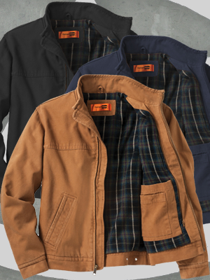 CornerStone® Washed Duck Cloth Flannel-Lined Work Jacket - CSJ40