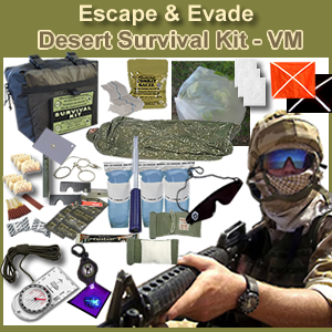Escape & Evade Desert Military Survival Kit VM