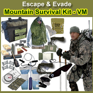 Escape & Evade Mountain Military Survival Kit (VM)