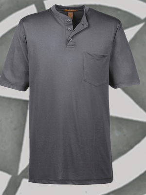 Harriton Adult Prime Short-Sleeve Performance Henley - M400