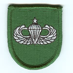 10th SF Group Beret Flash with Senior Airborne Wings - Item Number: P-10000